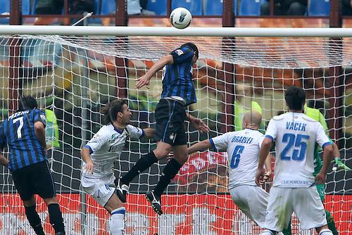 23 10 2011  Goal scored by Thiago Motta Inter Milan Milan, Italy.  Stadio san Siro Football Calcio Series A 2011-12 Inter vs Chievo  . Mandatory Credit: Actionplus