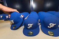 18 September 2012: Close view of France caps during Team France practice, at the 2012 World Baseball Classic Qualifier round, in Jupiter, Florida, USA.