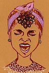 Elizabeth Zunon <br /> Geraldine sketches