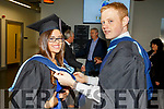 Sandra O'Sullivan getting a little help from Robert Stack of Causeway before she graduates from the I T Tralee on Friday