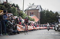 Alessandro de Marchi (ITA/BMC) is the first rider on the 2nd ascent of the day up the Mur de Huy <br /> <br /> 81st La Fl&egrave;che Wallonne (1.UWT)<br /> One Day Race: Binche &rsaquo; Huy (200.5km)