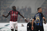 Calcio, Serie A: AC Milan - Inter Milan, Giuseppe Meazza (San Siro) stadium, Milan on 17 March 2019.  <br /> Milan's Tiémoué Bakayoko (l) celebrates after scoring during the Italian Serie A football match between Milan and Inter Milan at Giuseppe Meazza stadium, on 17 March 2019. <br /> UPDATE IMAGES PRESS/Isabella Bonotto