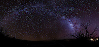 A glowing Milky Way on a starry night on Mauna Kea, Big Island.