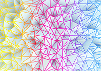 Multi coloured low poly abstract pattern