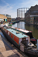 Regent's Canal at Haggerston, near Broadway Market, Hackney, London, England