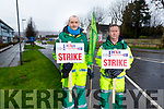 Paramedics John Kelliher (Listowel) and Kevin Moore (Dingle) who are staging a strike at UHK as they seek union recognition from the HSE on Tuesday morning.