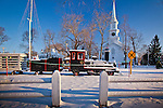 Falmouth town common decorated for Christmas, Falmouth, Cape Cod, MA