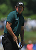 Phil Michelson reacts after missing a putt on the 7th Hole in the third round of the U.S. Open Championship at Shinnecock Hills Golf Club in Southampton on Saturday, June 16, 2018.