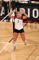 3 December 2005: Katie Goldhahn during Stanford's 3-1 loss to Santa Clara University at Maples Pavilion in Stanford, CA.