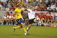 Amy Rodriguez #8, Stina Segerstrom...USWNT tied Sweden 1-1 at Morison Stadium, Nebraska.