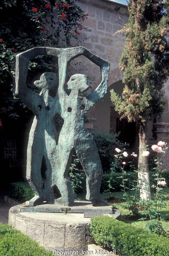Sculpture by Michoacan born artist Alfredo Zalce entitled Danza, Morelia, Michoacan, Mexico