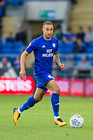 Jazz Richards of Cardiff City during the Sky Bet Championship match between Cardiff City and Sheffield United at Cardiff City Stadium, Cardiff, Wales on 15 August 2017. Photo by Mark  Hawkins / PRiME Media Images.