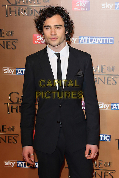 LONDON, ENGLAND - MARCH 18: Toby Sebastian arrives for the world premiere of Game of Thrones Season 5 at Tower of London on March 18, 2015 in London, England<br /> CAP/ROS<br /> &copy; Steve Ross/Capital Pictures