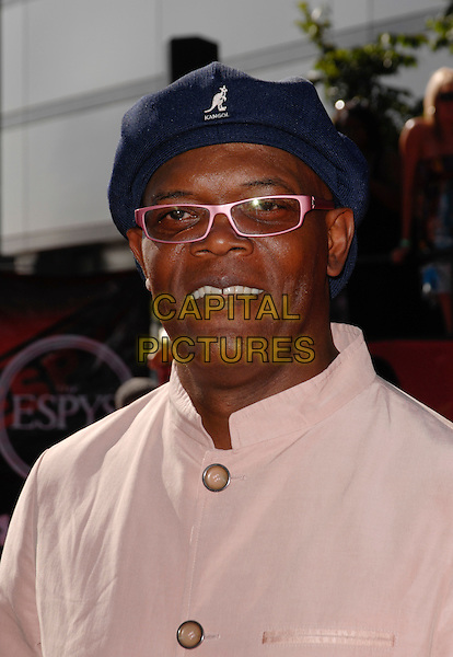 SAMUEL L. JACKSON.ESPN's 17th Annual ESPY Awards at the Nokia Theatre in Los Angeles, California, USA. .July 15, 2009 .headshot portrait pink shirt glasses blue black kangol hat espys.CAP/ROT.©Lee Roth/Capital Pictures