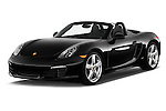2015 Porsche Boxster 2 Door Convertible Angular Front stock photos of front three quarter view