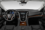 Stock photo of straight dashboard view of 2020 Cadillac Escalade-ESV Premium-Luxury 5 Door SUV Dashboard