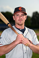 Connecticut Tigers third baseman Joey Pankake (46) poses for a photo before a game against the Batavia Muckdogs on July 21, 2014 at Dwyer Stadium in Batavia, New York.  Connecticut defeated Batavia 12-3.  (Mike Janes/Four Seam Images)