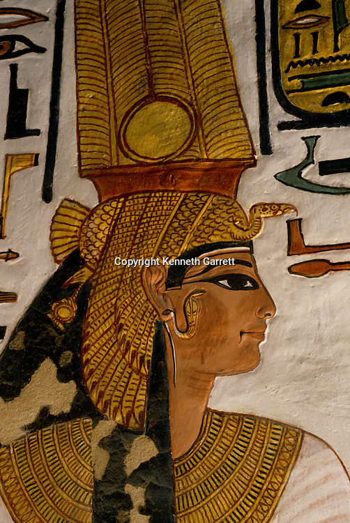 Tomb of Nefertari, wife of Ramses II (the Great), Valley of the Queens; Egypt, New Kingdom