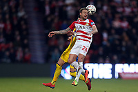 James Coppinger of Doncaster Rovers and Joel Ward of Crystal Palace during Doncaster Rovers vs Crystal Palace, Emirates FA Cup Football at the Keepmoat Stadium on 17th February 2019
