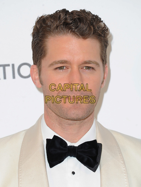 Matthew Morrison.The 21st Annual Elton John AIDS Foundation Academy Awards Viewing Party held at The City of West Hollywood Park in West Hollywood, California, USA..February 24th, 2013.oscars headshot portrait bow tie white tuxedo jacket black                       .CAP/DVS.©DVS/Capital Pictures.