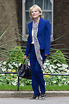© Joel Goodman - 07973 332324 . 11/05/2015 . London , UK . ANNA SOUBRY arrives at 10 Downing Street this afternoon (11th May 2015) . Photo credit : Joel Goodman