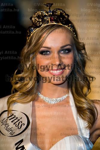 Miss Alpe Adria Hungary beauty contest held in Budapest, Hungary. Saturday, 16. January 2010. ATTILA VOLGYI