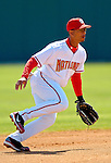 8 March 2006: Royce Clayton, infielder for the Washington Nationals, makes a play during a Spring Training game against the St. Louis Cardinals. The Cardinals defeated the Nationals 7-4 in 10 innings at Space Coast Stadium, in Viera, Florida...Mandatory Photo Credit: Ed Wolfstein.