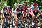 The peloton in action during Stage 10 of the 2018 Tour de France running 158.5km from Annecy to Le Grand-Bornand, France. 17th July 2018. <br /> Picture: ASO/Alex Broadway | Cyclefile<br /> All photos usage must carry mandatory copyright credit (&copy; Cyclefile | ASO/Alex Broadway)