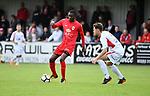 2018-06-22 / Voetbal / Seizoen 2018-2019 / Hoogstraten VV - R. Antwerp FC / William Owusu (l. Antwerp) met Senne Van Dooren<br /> <br /> ,Foto: Mpics