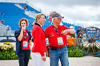 BEL-Karin Donckers during the course walk for the Showjumping for the FEI World Team and Individual Eventing Championship. 2018 FEI World Equestrian Games Tryon. Monday 17 September. Copyright Photo: Libby Law Photography