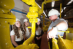 Women in Engineering<br /> Dave Perriam operation training manager for Wales &amp; West Utilities gives a guided to tour of their training facility to Jessica Davies, Shayla Davies &amp; Francesca Hughes pupils at Ysgol Garth Olwg in Pontypridd.<br /> 23.06.14<br /> &copy;Steve Pope-FOTOWALES