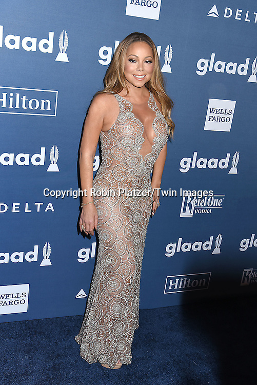 Mariah Carey attends the 27th Annual GLAAD Media Awards on May 14, 2016 at the Waldorf Astoria Hotel in New York City, New York, USA.<br /> <br /> photo by Robin Platzer/Twin Images<br />  <br /> phone number 212-935-0770