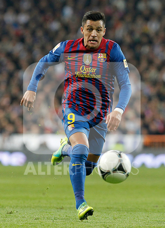 FC Barcelona's Alexis Sanchez during Spanish King's Cup match.January 18,2011. (ALTERPHOTOS/Acero)
