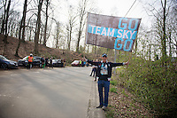 you can find Rusty Morris (Team SKY's biggest fan) at almost every race along the route<br /> <br /> 57th E3 Harelbeke 2014