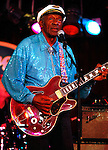 September 12, 2009 New York: Singer / Musician Chuck Berry performs BB King's Blues Club on September 12, 2009 in New York.
