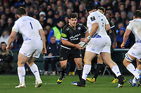 Rob Webber of Bath Rugby in possession. European Rugby Champions Cup match, between Bath Rugby and Leinster Rugby on November 21, 2015 at the Recreation Ground in Bath, England. Photo by: Patrick Khachfe / Onside Images