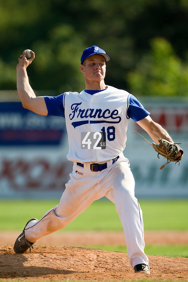 BASEBALL - GREEN ROLLER PARK - PRAGUE (CZECH REPUBLIC) - 24/06/2008 - PHOTO: CHRISTOPHE ELISE.GREGORY CROS (TEAM FRANCE)