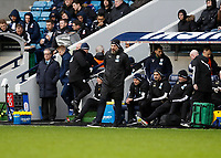9th February 2020; The Den, London, England; English Championship Football, Millwall versus West Bromwich Albion; West Bromwich Albion manager Slaven Bilic looking on from the touchline