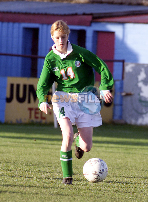 Action from the Girl's Under 15's game between Ireland and Turkey un United Park, Drogheda..Picture: Paul Mohan/Newsfile