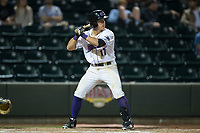 Danny Mendick (17) of the Winston-Salem Dash at bat against the Myrtle Beach Pelicans at BB&T Ballpark on May 11, 2017 in Winston-Salem, North Carolina.  The Pelicans defeated the Dash 9-7.  (Brian Westerholt/Four Seam Images)