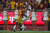 Los Angeles, Ca - September 9, 2017: The Stanford Cardinal loses to the USC Trojans 24-42 at the Los Angeles Coliseum.