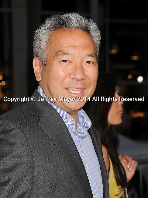 HOLLYWOOD, CA- SEPTEMBER 15: Chairman and CEO of Warner Bros. Entertainment Kevin Tsujihara arrives at the 'This Is Where I Leave You' - Los Angeles Premiere at TCL Chinese Theatre on September 15, 2014 in Hollywood, California.