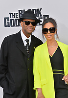 "LOS ANGELES, USA. June 04, 2019: Jimmy Jam & Lisa Padilla at the premiere for ""The Black Godfather"" at Paramount Theatre.<br /> Picture: Paul Smith/Featureflash"