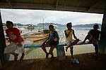 Ile de Coron dans l'archipel de Calamian. Philippines.Port et embarcadère de Coron
