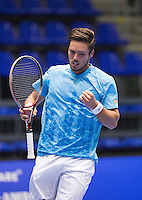 Rotterdam, Netherlands, December 17, 2015,  Topsport Centrum, Lotto NK Tennis, Tim van Terheijden (NED)<br /> Photo: Tennisimages/Henk Koster