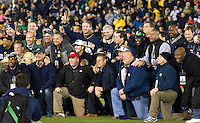 The 1988 National Championship team was honored at mid-field before kickoff.