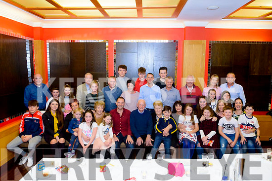 Kieran Murphy from Brosna and Pat Joe Murphy also from Brosnan celebrated their 40th and 86th birthdays surrounded by friends and family in the Oaks Hotel, Killarney last Saturday night