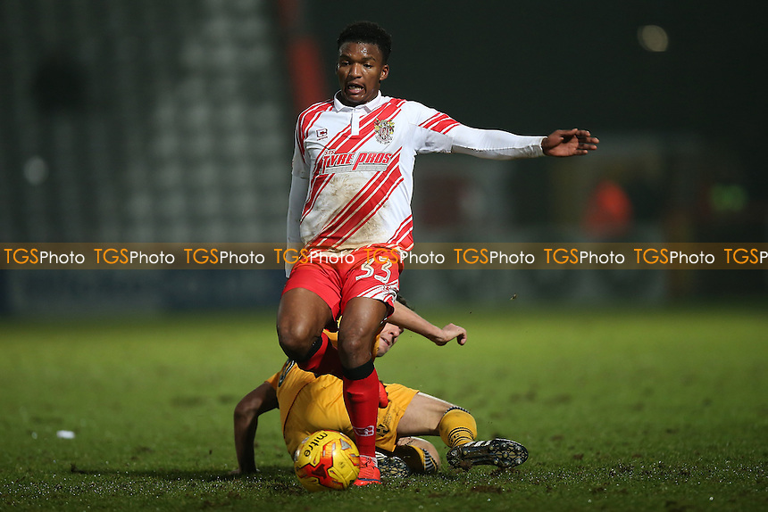 Kgosi Ntlhe of Stevenage during Stevenage vs Newport County, Sky Bet EFL League 2 Football at the Lamex Stadium on 7th January 2017