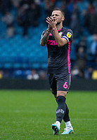 Leeds United's Liam Cooper applauds his side's travelling supporters at the end of the match  <br /> <br /> Photographer Andrew Kearns/CameraSport<br /> <br /> The EFL Sky Bet Championship - Sheffield Wednesday v Leeds United - Saturday 26th October 2019 - Hillsborough - Sheffield<br /> <br /> World Copyright © 2019 CameraSport. All rights reserved. 43 Linden Ave. Countesthorpe. Leicester. England. LE8 5PG - Tel: +44 (0) 116 277 4147 - admin@camerasport.com - www.camerasport.com