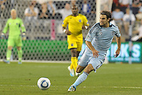 Sporting KC midfielder Graham Zusi (8) in action... Sporting Kansas City defeat Columbus Crew 2-1 at LIVESTRONG Sporting Park, Kansas City, Kansas.